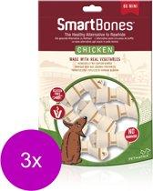 Smartbones Classic Bone Chews Kip - Hondensnacks - 3 x Mini