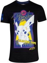 Pok�mon Heren Tshirt -2XL- City Pikachu Zwart
