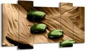 Canvas schilderij Spa   Bruin, Groen   120x65 5Luik