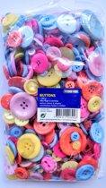 Buttons, set van 500 g knopen in verschillende kleuren
