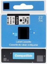 Dymo D1 standaard labels wit-zwart 12mm
