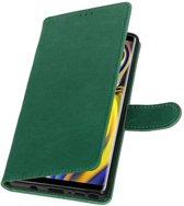 Groen Pull-Up Booktype Hoesje voor Galaxy Note 9