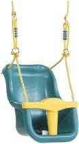 Babyzitje 'luxe' turquoise/geel