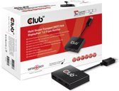 Club3D MST HUB 1 x DisplayPort 1.2 naar 3 x DisplayPort, AC Powered