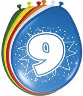 Ballonnen 9 Jaar 30cm 8 stuks