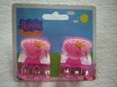 Set van 2 haarklemmen van Peppa Pig