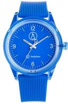 Q&Q Smile Solar 651019 horloge 100 meter 40 mm blauw