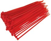 Kabelbinders Tie-Wraps 100x2.5mm Rood