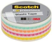 Scotch Expressions tape 15 mm x 10 m funky
