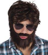 6 stuks: Pruik Dude met baard