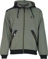 Donnay vest met capuchon - Sportvest - Heren - Maat XL  - Heren - Groen gemêleerd