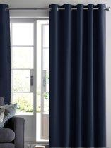 ruben gordijn verduisterend donker blauw 300x250 kant en klaar met ringen luxe zonwerende