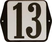 Emaille huisnummer oor - 13