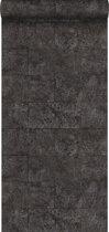 Origin behang kalkstenen blokken zwart - 347583 - 53 cm x 10.05 m