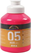 A-color Neon acrylverf, neon roze, 05 - neon, 500 ml