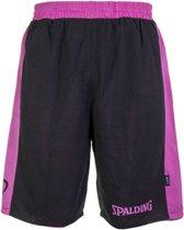 Spalding Essential Reversible Basketbalshort Heren  Basketbalbroek - Maat S  - Mannen - zwart/roze