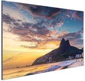 FotoCadeau.nl - Avondlucht  Rio de Janeiro Aluminium 30x20 cm - Foto print op Aluminium (metaal wanddecoratie)