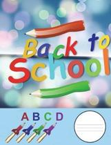 Back to School ABCD Notebook/Composition Book/Journal