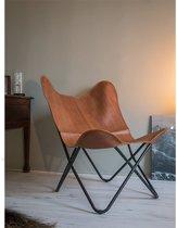 Urban Living Klassieke vlinderstoel - cognac - design