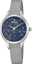 Festina F20336/2 horloge dames - zilver - edelstaal