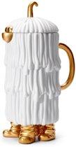 L'OBJET - Haas Djuna Coffee/Tea Pot White + Gold