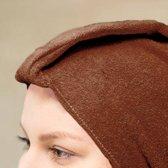 Mega Beauty Shop® tulband Schoonheidsspecialiste Bruin - badstof