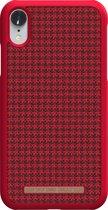 Nordic Elements Sif backcover voor Apple iPhone XR -  Rood / zwart textiel