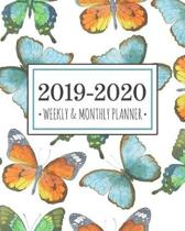 2019-2020 planner butterflies: Butterflies Diary Agenda Calendar Schedule Organizer - Sept 2019 through December 2020