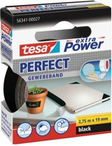 Tesa Extra Power Perfect Plakband - Zwart - 19 mm x 2,75 m