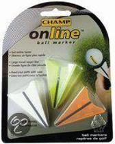 Golfbalmakers Online. 3 stuks in  verschillende kleuren.