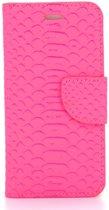 Schubbenprint Boekmodel Hoesje iPhone 8 / 7 - Donkerroze
