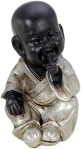 Boeddha monnik zwijgen (hoogte 15 cm)
