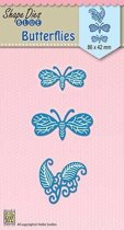 Vorm Mal blauw  Vlinders