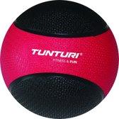 Tunturi  Medicine Ball - Medicijnbal - Crossfit ball - 3 kg - Rood/Zwart Rubber