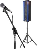 Vonyx Karaokeset met de Vonyx LM80 LightMotion Bluetooth speaker op standaard