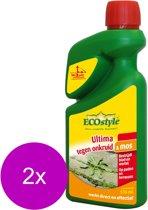 Ecostyle Ultima Onkruid & Mos Concentraat - Onkruidbestrijding - 2 x 510 ml