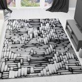 Vloerkleed - 2500 gr per m² - Tibet - Grijs - 011 - 120x170 cm