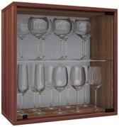 Wijnkast vitrinekastje Weino V modulair samen te stellen noten