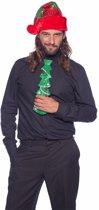 Glitter kerstboom stropdas met LED voor volwassenen - kerst stropdas