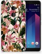 HTC U11 Plus TPU-siliconen Hoesje Flowers