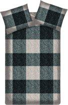 Beddinghouse Karoo flanel dekbedovertrek - Black - Lits-jumeaux (240x200/220 cm + 2 slopen)