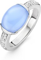 TI SENTO Milano Ring 12057LA - Maat 50 (16 mm) - Gerhodineerd Sterling Zilver