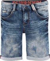 Retour Jeans Jongens Short - Medium Blue Denim - Maat 116