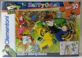 Ben 10 Ultimate Alien - Clementoni Happy Color Maxi puzzel - 30 stukjes