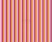 ESTAhome stof strepen roze en oranje