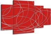 Canvas schilderij Art | Rood | 160x90cm 4Luik
