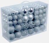 Zilveren kerstballen 100 stuks - kerstboomversiering