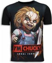 Local Fanatic I´m Chucky - Digital Rhinestone T-shirt - Zwart - Maten: S