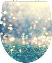 SCHÜTTE WC-Bril 82587 MAGIC LIGHT - High Gloss - Duroplast - Soft Close - Afklikbaar - RVS-Scharnieren - Decor - 1-zijdige Print