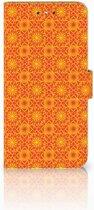 Nokia 6 Boekhoesje Design Batik Orange
